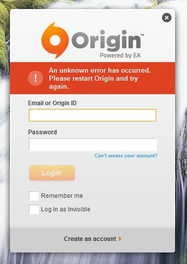 Why does not Origin start? Solution
