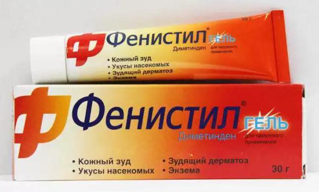 Segít- e a fenistil gél a pikkelysömörben)
